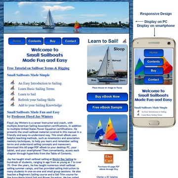 Small Sailboats.net Responsive Screen Captures